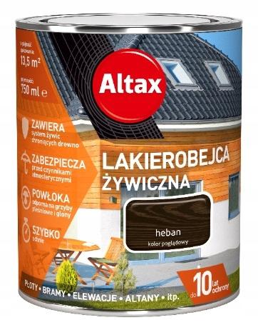 ALTAX- lakierobejca żywiczna, heban, 750 ml