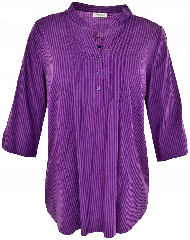 uBE3233 modna koszulowa bluzka w paski 50