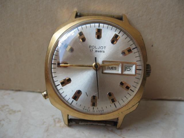 CCCP Zegarek POLJOT grubo Złocony *10 do RENOWACJI