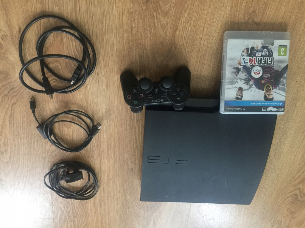PS3 SLIM 500GB SOFT 3.55 ROGERO CFW 4.85 GRA KABLE