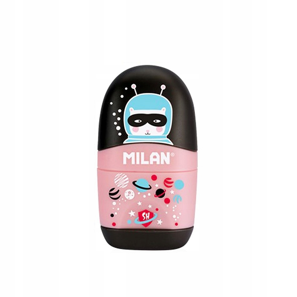 Temperówka z gumką Milan SUPER HEROES SPACE czarna