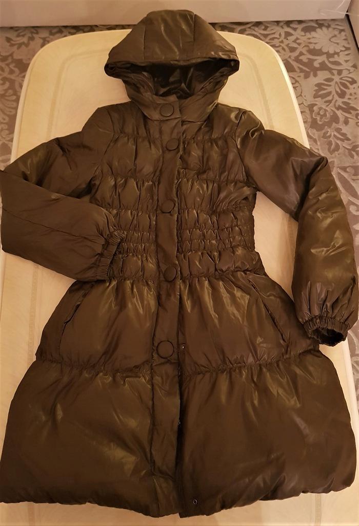 BENETTON płaszcz ,brąz XS/S śliczny, s.bdb OKAZJA