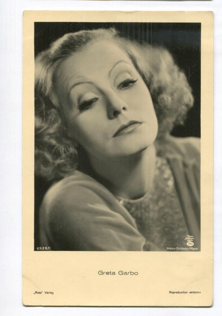 Greta Garbo Kino Film Aktorka Foto Pocztówka 2