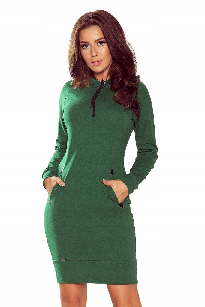 NUMOCO Sukienka z kapturem i kieszeniami 260-2 XS