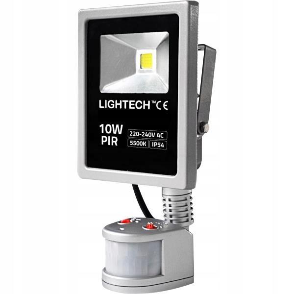 &quotNaświetlacz LED COB 10W z czujnikiem PIR