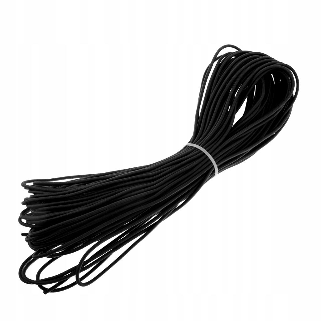 1-częściowy przewód amortyzujący - 20m Czarny