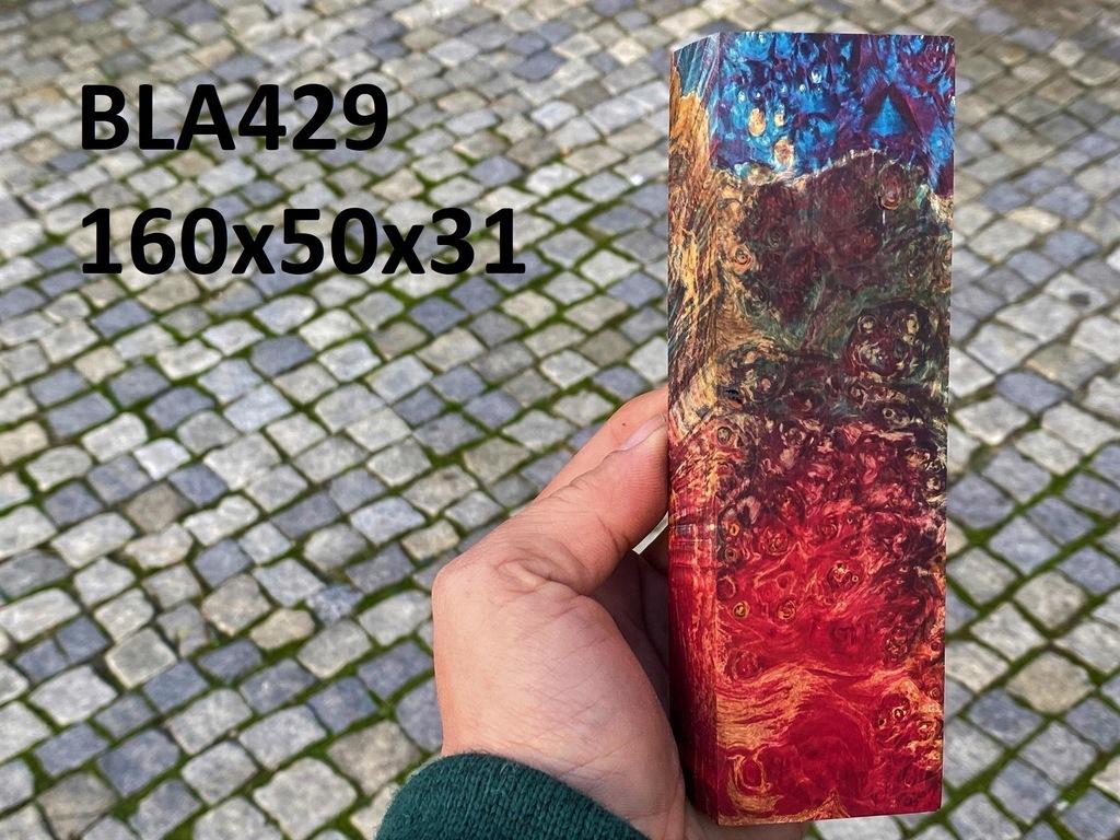 Drewno stabilizowane bloczek knifemaking BLA429