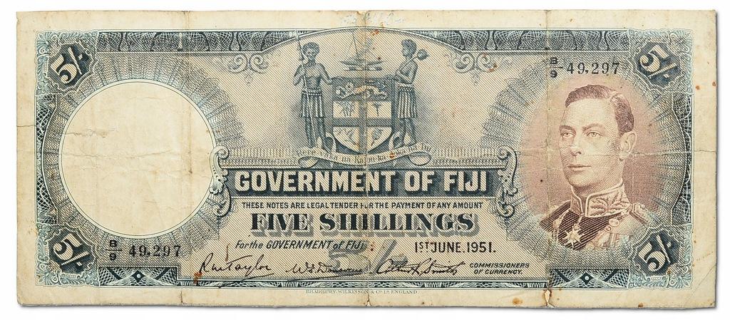 18.di.Fiji, 5 Szylingów 1951 rzadki, P.37.k, St.3
