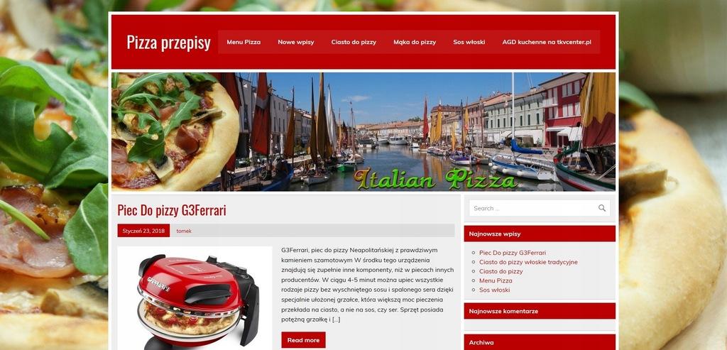 Strona Nazwa Domena pizzaprzepisy.pl + portal blog