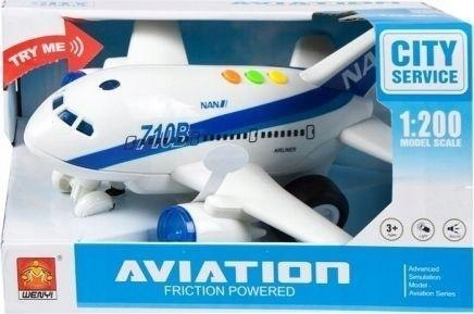 Samolot pasażerski światło i dźwięk