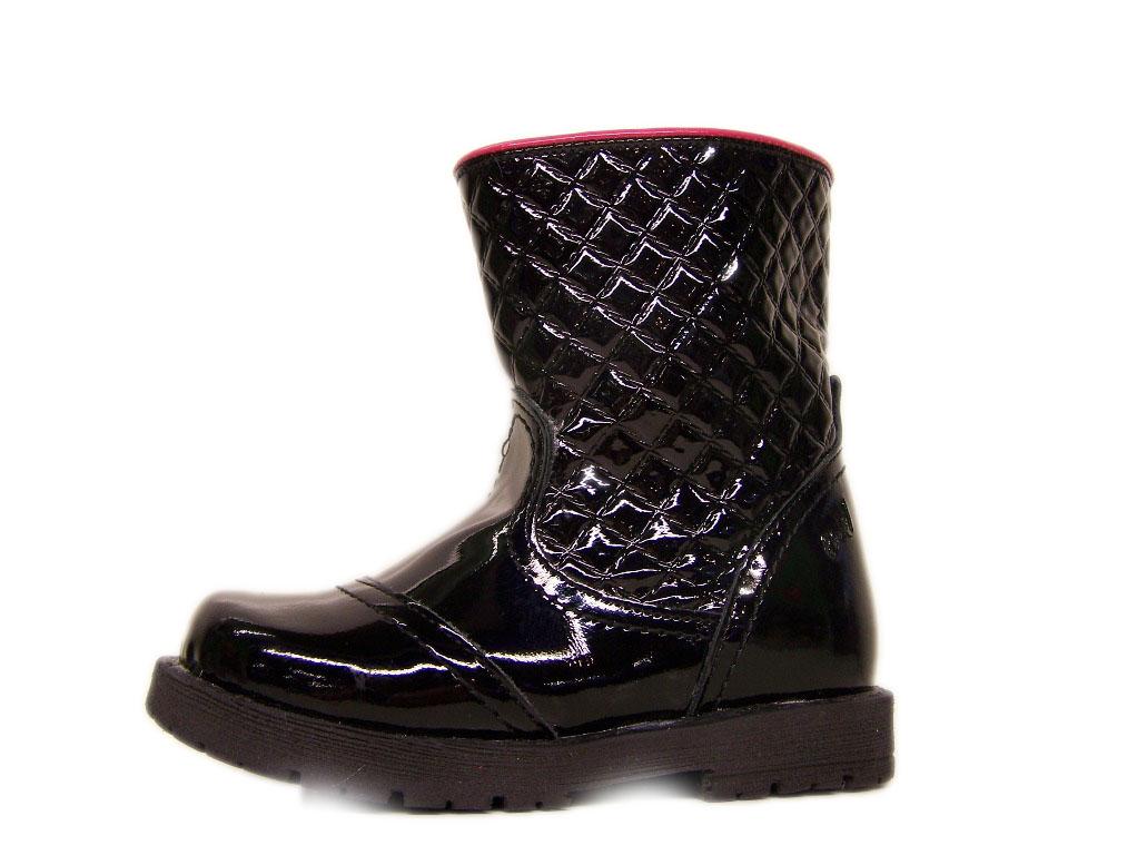 * EMEL buty 2462-7 lakierowane ocieplane 24