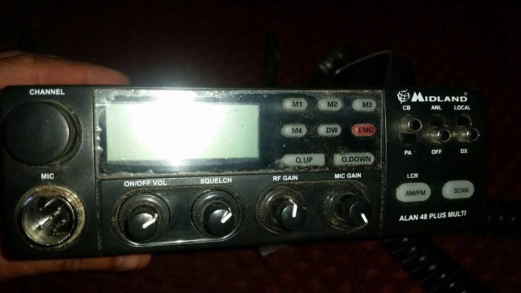radio cb midland alan 48 plus uszkodzone