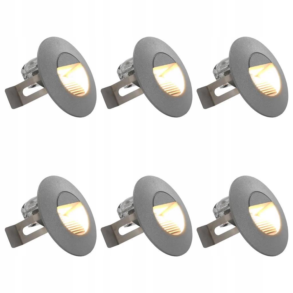 Lampy ścienne zewnętrzne LED 6 sztuk 5 W srebrne