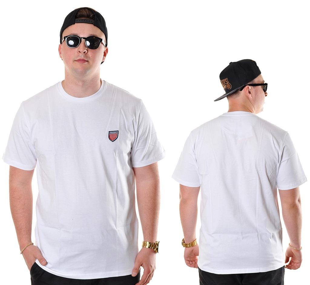 Koszulka L Prosto Klasyk JAQUARD II biała
