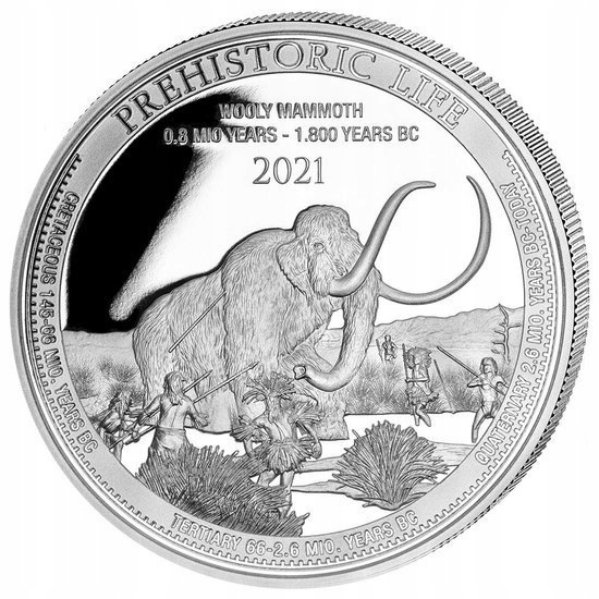 Prehistoric Life - Mamut 1 uncja Srebra 2021