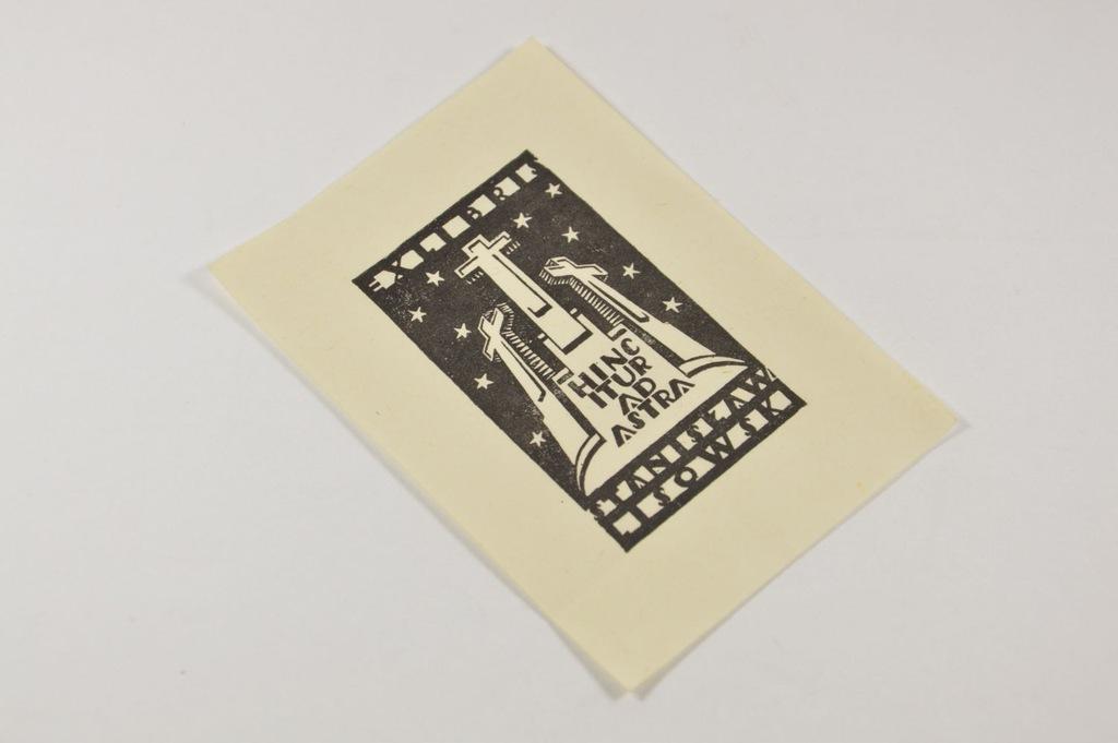 EXLIBRIS EKSLIBRIS ST. LISOWSKI ACHREMOWICZ 1929 r