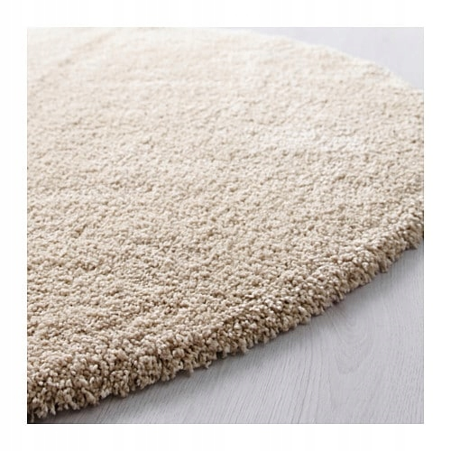 IKEA dywan z długim włosiem ADUM bladyróż 195cm
