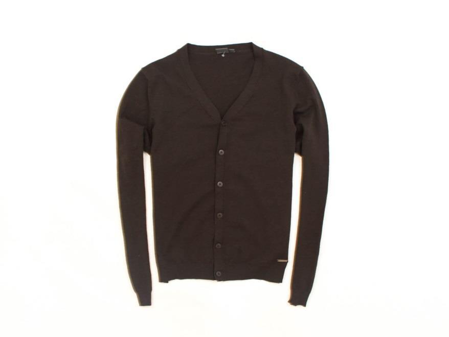 *D Calvin Klein Sweter Męski Wełniany Brąz roz 50