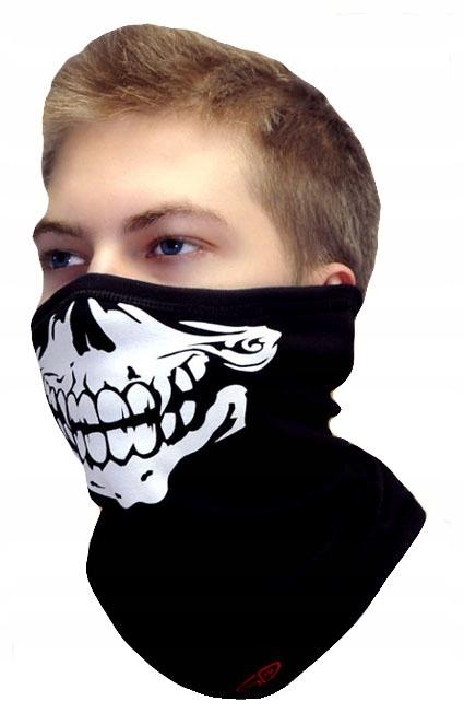 Termoaktywna maska wspinaczkowa z czaszką. JonyAg+