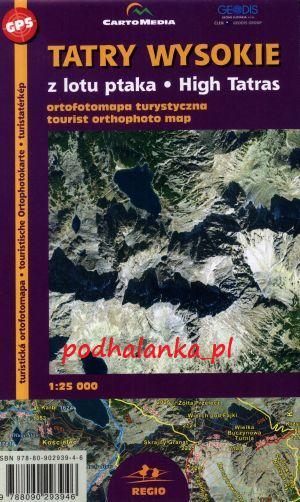 Tatry Wysokie z lotu ptaka - ortofoto mapa