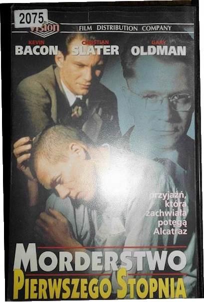 Morderstwo Pierwszego Stopnia - VHS kaseta video
