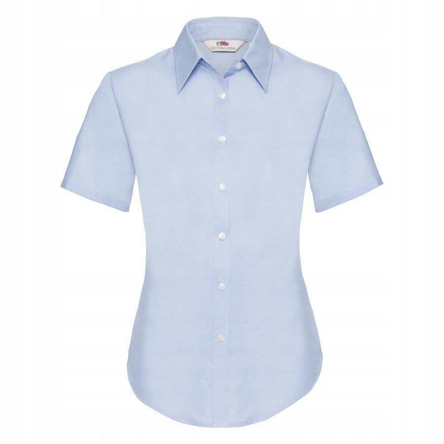 DAMSKA koszula FRUIT kr.rękaw OXFORD błękitna XL