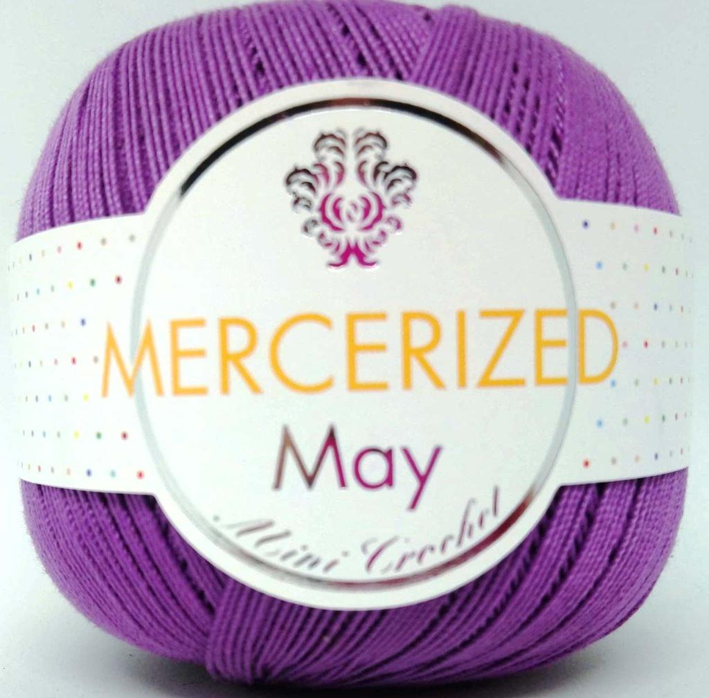 Kordonek MERCERIZED May bawełna fioletowy 004