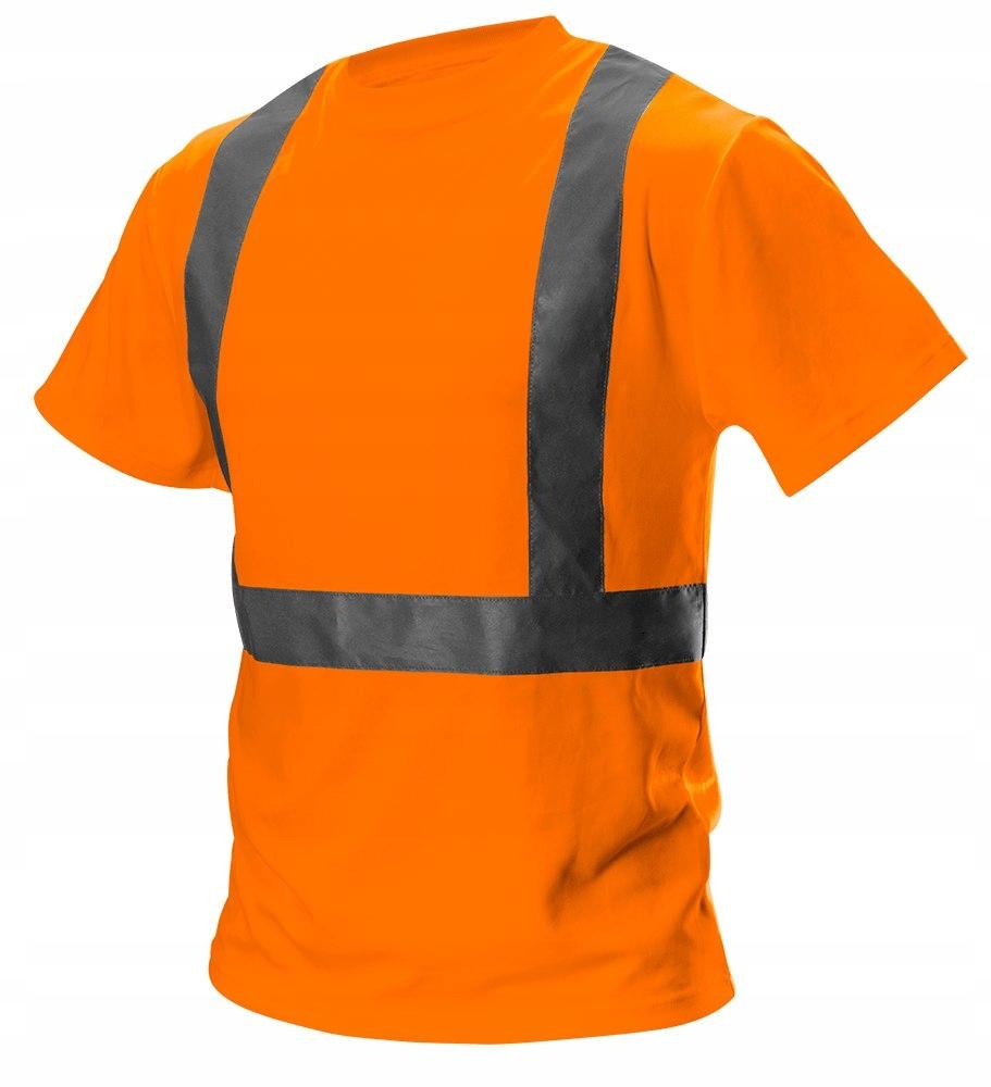 T-shirt ostrzegawczy, pomarańczowy, rozmiar S