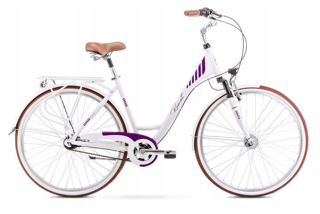 Rower Romet Art Deco 7 Biało fioletowy 17