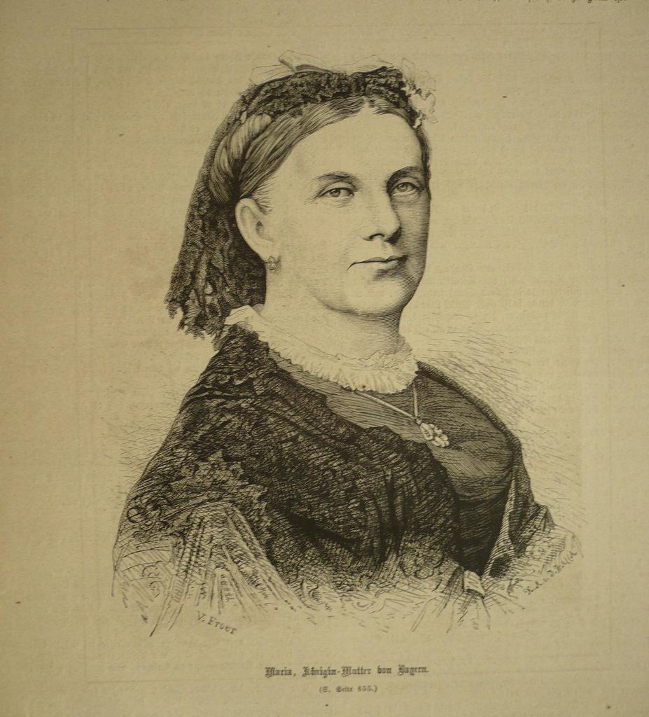Maria królowa matka von Bayern, oryg. 1871