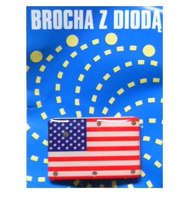 Brocha na magnes broszka - Ameryka