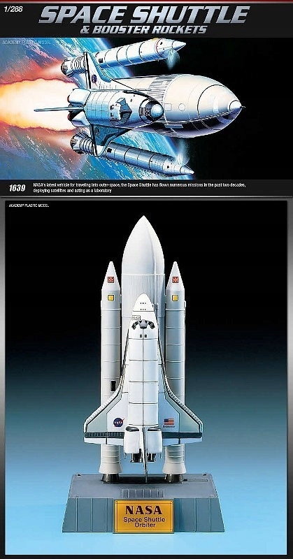 Academy ACADEMY Space Shuttle w/ Booster