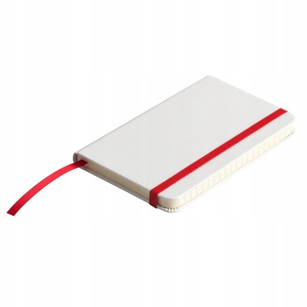 Notatnik Badalona 90x140/80k linia, czerwony/biały