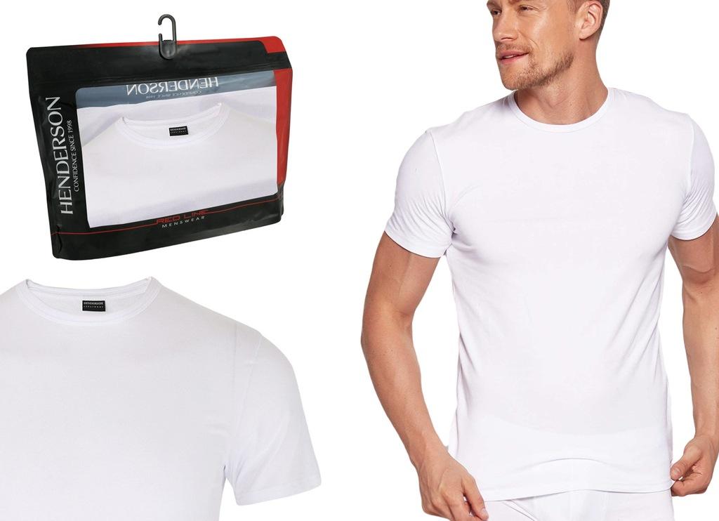 Koszulka T-Shirt K3 Henderson RED LINE biały L