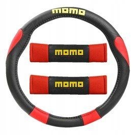 Pokrowiec kierownica pas bezpieczeństwa MOMO