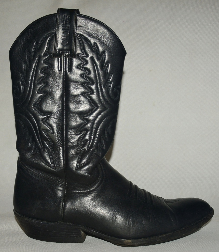 SANCHO Boots Kowbojki Skóra Spain ŁADNE 44 29,5 cm