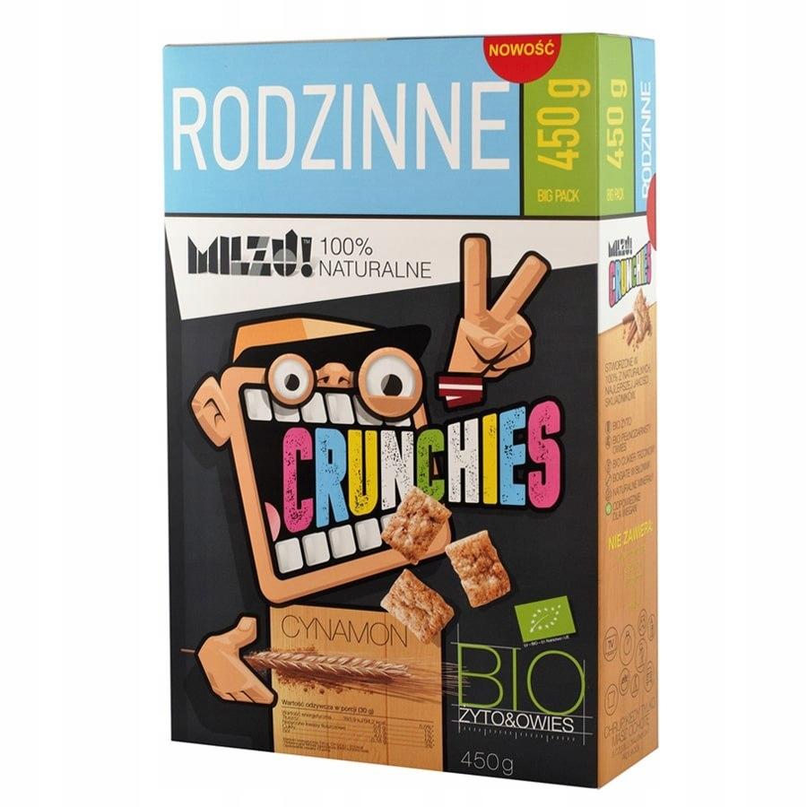 Płatki Crunchies żytnio-owsiane z cynamonem RODZIN