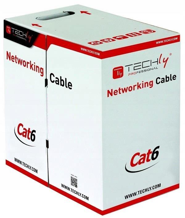 Kabel instalacyjny skrętka UTP Cat6 4x2 drut 100%