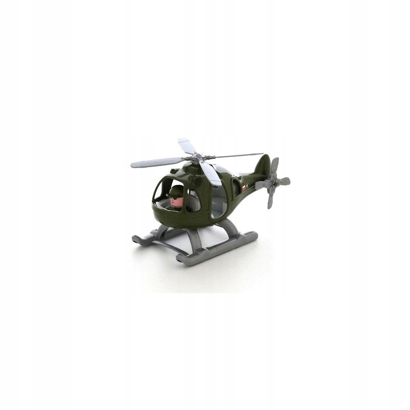 Helikopter Smigłowiec Wojskowy Grzmot Figurka Pilo