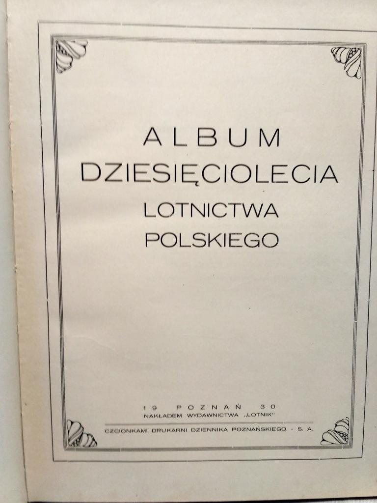 Album Dziesieciolecia Lotnictwa Polskiego 1930 8535126154 Oficjalne Archiwum Allegro