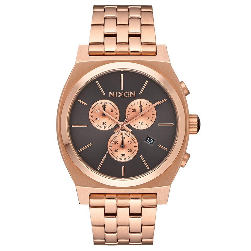 NIXON Time Teller Chrono All Rose Gold/Gunmetal