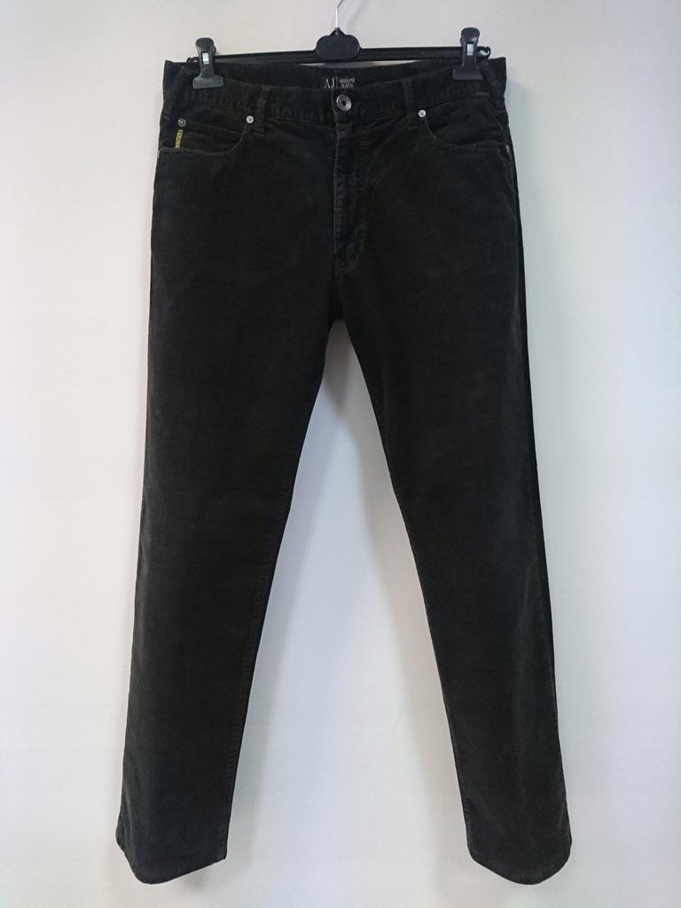 spodnie sztruksowe armani r. 34 34/34 35/34