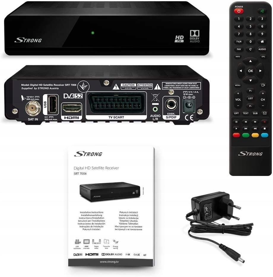 Odbiornik satelitarny SRT 7006 HD DVB-S/S2 Full HD