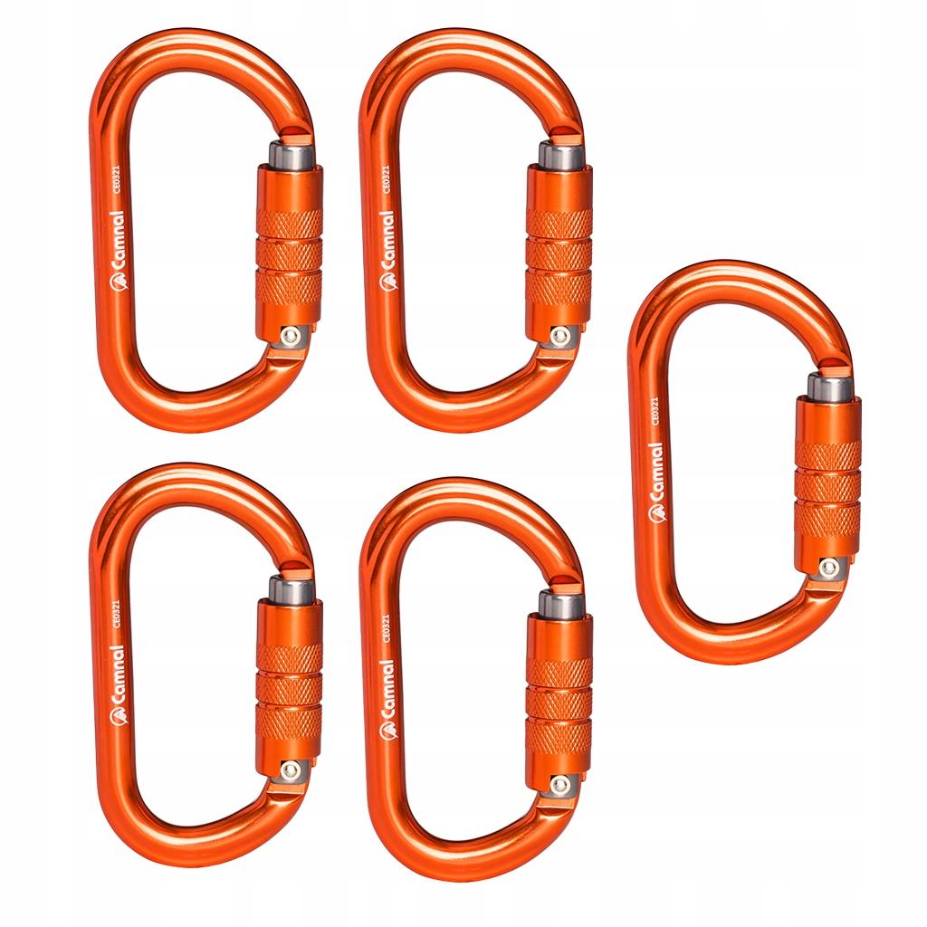 5 sztuka wspinaczka karabinek - Pomarańczowy