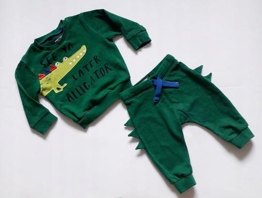PRIMARK*zielony dres ALIGATOR 68-74