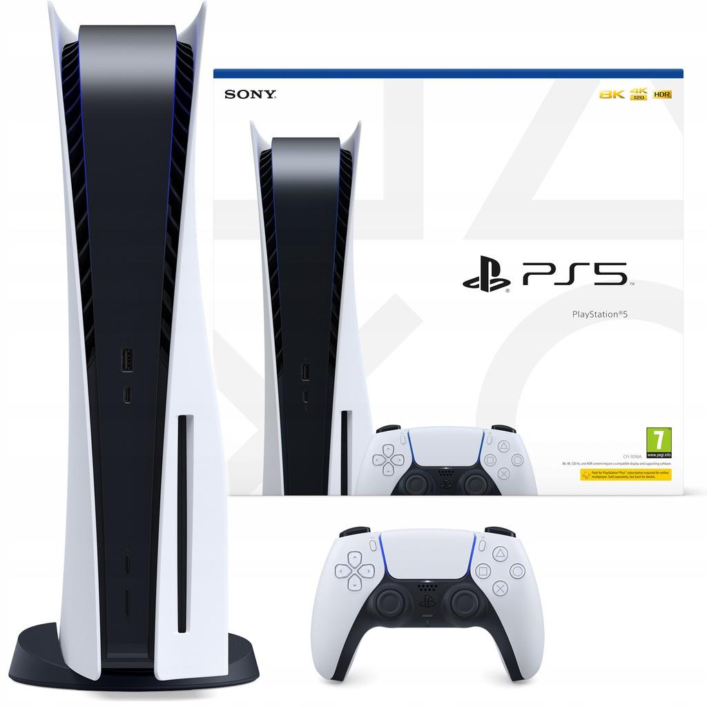 Konsola PlayStation 5 PS5 napęd + 3 GRY FOLIA BCM