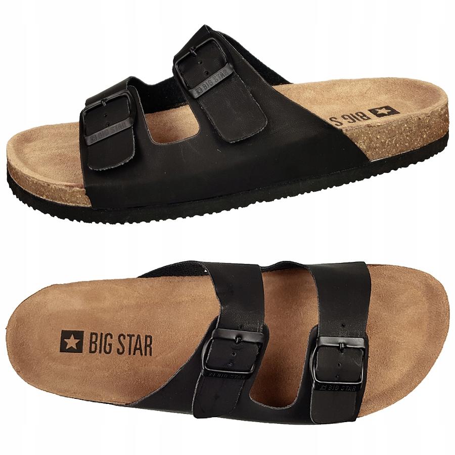 Klapki Big Star męskie czarne DD174605 40