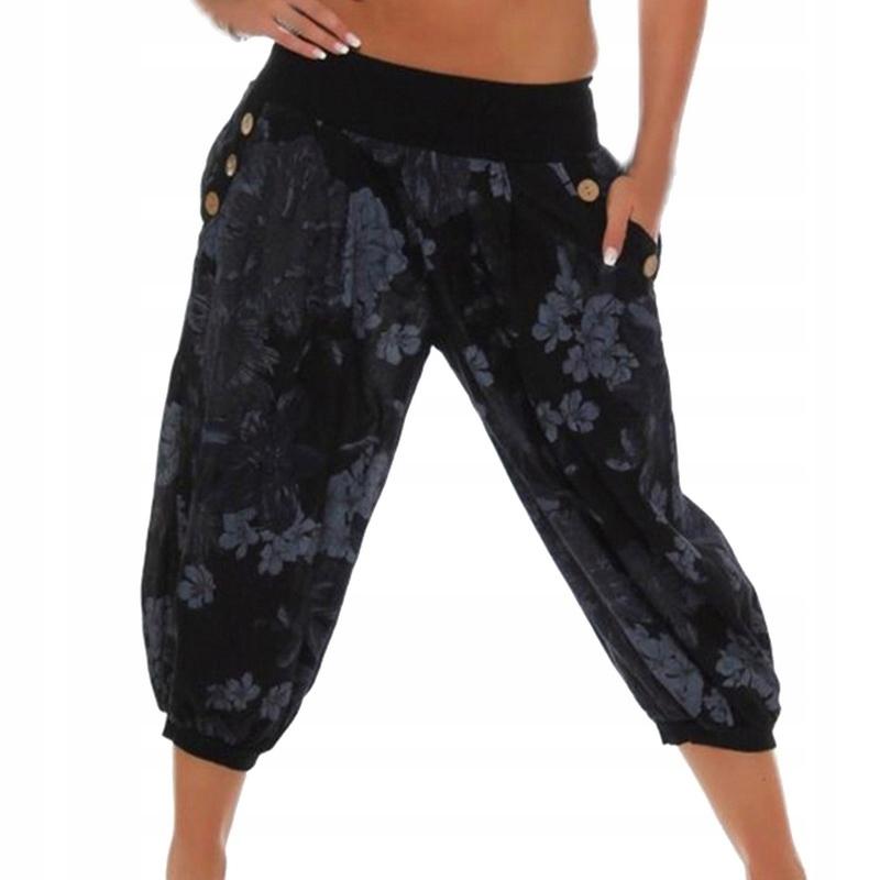 Spodnie damskie luźne nogawka 34 do tańca jogi L