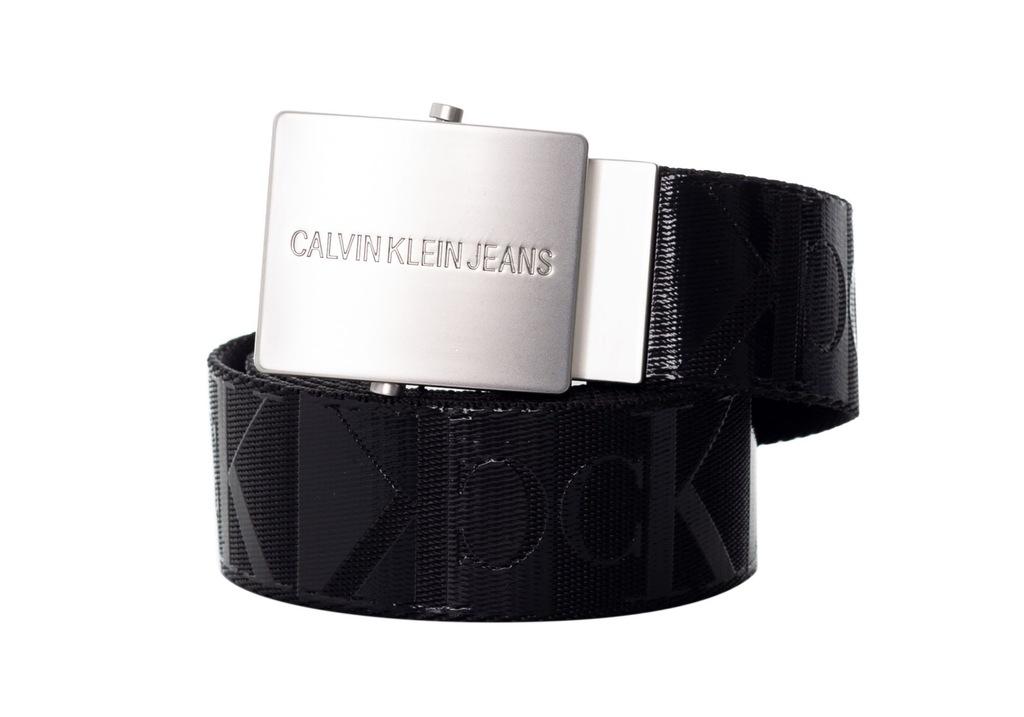 CALVIN KLEIN PASEK DO SPODNI CANVAS BLACK r.115