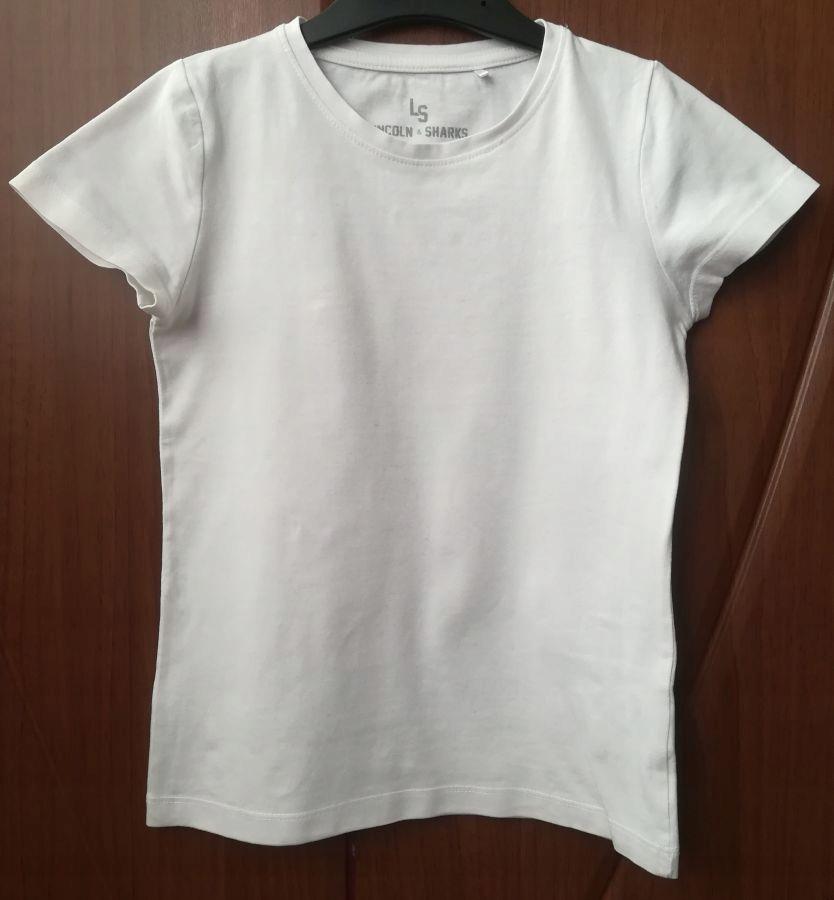 5.10.15 LS Biały t-shirt dla dziewczynki r. 134